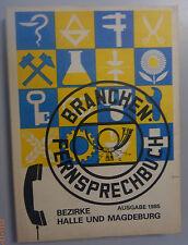 Branchen -Fernsprechbuch Bezirk Halle und Magdeburg Deutschen Post 1985