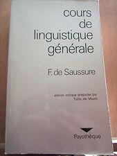 Ferdinand de Saussure: Cours de Linguistique générale/ Payothèque, 1973