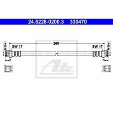 ORIGINAL ATE Bremsschlauch Citroen AX ua. Bj.83-98