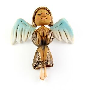 """Beautiful Angel carved on a Black Poplar and Linden wood Handmade Home Decor 8"""""""