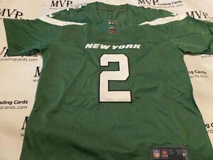 Zach Wilson Gotham Green New York Jets Men's Size Large Jersey