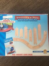 Thomas the Train Wooden Clickity Clack Track Pack Set Straight & Curved