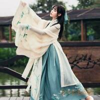 Hanfu Women's Dress Coat Tops Skirt Han Chinese Ancient Costume Cosplay Clothing