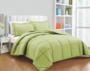Super Soft Down Alternative Solid Twin/Queen/King Size Comforter Set
