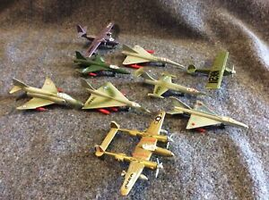 8 Small Diecast Aeroplanes Aircraft Zymex & Made In Italy Dyna Flights