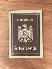 WW2 German Work Book Official Document