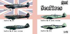 Seafires: 5 Model Set of variants of navy Spitfire (1/72 model kits Sword 72129)