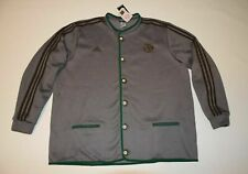 Bayern munchen jacket adidas buttoned fleece lined gray 3XL XXXL FCB AUTH JANKER