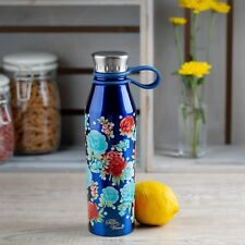 Pioneer Woman 18 Ounce Stainless Steel Water Bottle Blue New With Tags Brand New