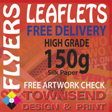 More details for leaflets / flyers printed on 150gsm silk paper / a4 / a5 / a6 / dl / free p+p