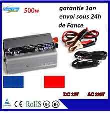 CONVERTISSEUR Voiture ET BATTERIE TRANSFORMATEUR 500W 12V 220V  USB auto CAMPING