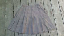 Hillard & Hanson Houndstooth Check Pleated Skirt Gray/Black/Red School Girl 12