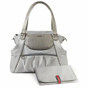 Skip Hop Studio Select Day-To-Night Baby DiaperTote Bag Pewter NWT
