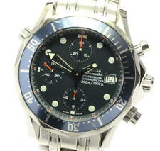 OMEGA Seamaster300 2599.80 Chronograph Navy Dial Automatic Men's Watch_581027