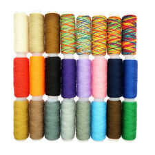 24 Spools Mixed Color Polyester Sewing Threads Kit for DIY Quilting Sewing
