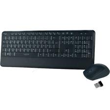 LogiLink ID0161 Wireless Tastatur mit Maus,Funk Kabellos Keyboard DE Layout