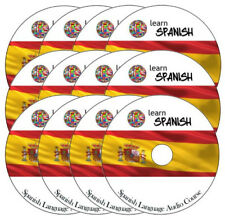 Learn to speak talk SPANISH Language Training Course on 12 AUDIO CD disc