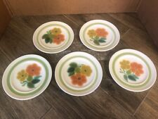 "(Lot of 5) FRANCISCAN  6 1/2"" Round Dessert Plate ..Floral Pattern"