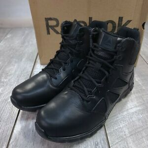 "Reebok Sublite Cushion Tactical 6"" Boots Mens 11 M US Black Military RB8605"