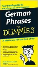 German Phrases for Dummies by Paulina Christensen and Anne Fox (2005, Paperback)