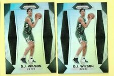 LOT OF (2) D.J. WILSON 2017-18 PANINI PRIZM SILVER REFRACTOR ROOKIE RC CARD #181