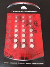 21 Reloj de Célula Alcalina Pilas de botón AG1/3/4/10/12/13 - sellados individualmente
