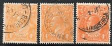"AUSTRALIA 1914 SG22a,22b,22d ""PE""OF PENCE JOINED USED"