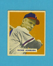1949 Bowman Baseball Single: #214 Richie Ashburn (Abt. EX)