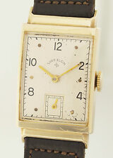 LORD ELGIN  ART DECO DESIGN ARMBANDUHR IN 14ct GOLD - 1940er JAHRE - KALIBER 626