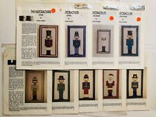 The Nutcrackers Charted Needlepoint Patterns Mindy English Vtg 1993 Lot of 9