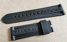 Panerai Rubber XL strap bracelet 24 mm 24/22 Length 125/75 black new