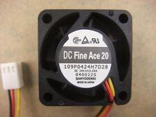 Sanyo 109P0424H7D28 4015 40mm x15mm Fan 24V 0.08A 3Pin 441