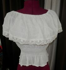 Peasant Wench Blouse, Shirt, Top, off White, Womens, Ruffles, Pirate,cream color