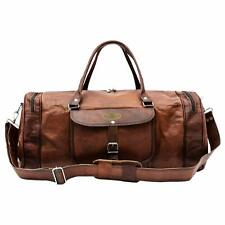 Vintage Handcrafted Real Leather Travel Duffel Luggage Overnight GYM Bag Unisex