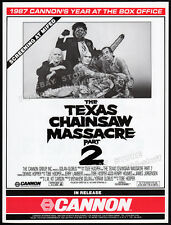 THE TEXAS CHAINSAW MASSACRE 2__Original 1986 Trade AD promo/ poster__TOBE HOOPER