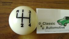 Shift Ball Knob White 5/16 Coarse Thread 4-speed Shifter *In Stock* fits muncie