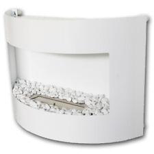 Gel y etanol chimene Riviera Deluxe Blanco+ quemador 1 L+ piedras decorativas
