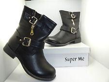 Stiefel Stiefeletten Schuhe SCHWARZ 38  *** SUPER ME *** W55