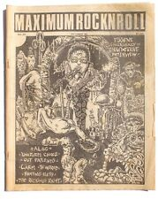 Vtg October 1985 Maximum Rock N Roll Punk Rock Music Zine Magazine No. 29