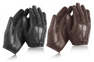 Combat Security Police Anti Slash Fire Resistant Leather Gloves New S to XXL