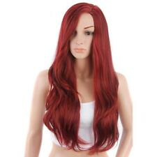 Women Long Curly Hair Red Full Wig Heat Resistant Cosplay Wig Synthetic Hair Pop