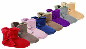 JYOTI NICOLETTE WOMENS, LADIES FURRY ANKLE BOOTIE SLIPPERS MANY COLOURS  NEW