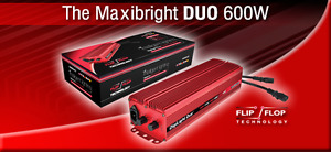 Maxibright DUO digital power pack uses Flip/Flop Technology 600w