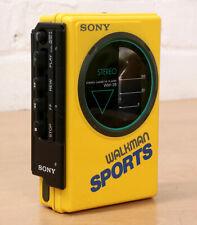 SONY WM-35 SPORTS PERSONAL CASSETTE PLAYER Stereo Walkman 1986