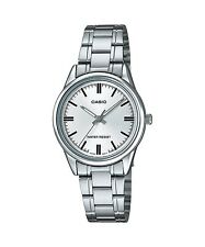 LTP-V005D-7A White Casio Ladies Watches Stainless Steel Band Brand-New
