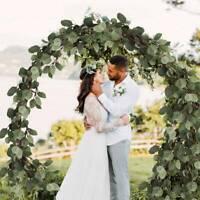 2m Artificial Silk Fake Garland Long Leaf Plants Greenery Foliage Wedding Decor