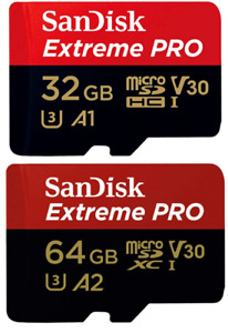 Sandisk 32GB 64GB Micro SD A1 A2 Card 170MB/s For GoPro Hero 3+ 4 5 6 7 8 9 MAX
