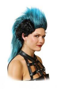 Punk Perücke Girl Punkgirl Punker Rocker Punkerin Rockerin Irokesen Frisur