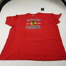 Blackhawks Chicago hockey Red T shirt 5XL Mens Crew Neck New NHL