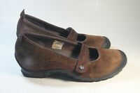 Merrell Plaza Bandeau Espresso Brown Suede Womens 9 US Shoes Mary Jane Loafers
